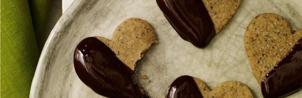 Chocolate-Dipped Espresso Shortbread Cookies recipe